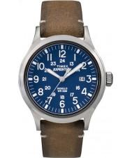 Timex TW4B01800 Mens spedizione analogico elevato orologio cinturino in pelle marrone chiaro