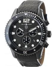 Elliot Brown 929-001-L01 Mens bloxworth in pelle nera cinturino del cronografo