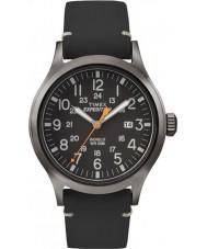 Timex TW4B01900 Mens spedizione analogico orologio cinturino in pelle nera elevato