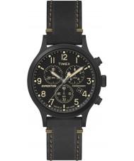 Timex TW4B09100 orologio cinturino in pelle nera Mens spedizione