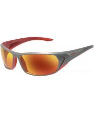 Bolle occhiali da sole TNS rosso fuoco Blacktail antracite lucido