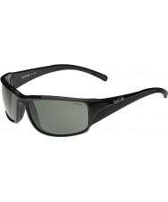 Bolle occhiali da sole polarizzati TNS neri lucidi Keelback