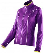 2XU WR2161A-PLQ-EYW-XS Donne elite lacca viola e eccellere giacca corsa gialla - taglia xs