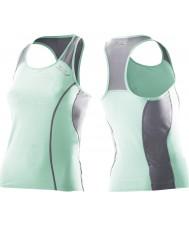 2XU Ladies attivo verde mist tri singlet