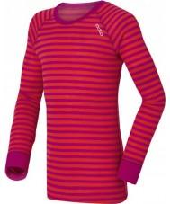 Odlo 10459-70244-104 Bambini girocollo viola-rosa Primo strato superiore - 3-4 anni (104 cm)