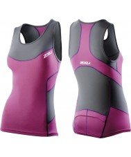 2XU WT2321A-CHR-UVT-XS Signore carbone e ultra violet compressione singoletto tri - taglia xs