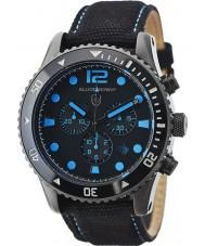 Elliot Brown 929-006-C02 Mens bloxworth orologio cronografo tessuto nero
