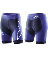 2XU WT2322B-NVY-NTB-XS Donna marina e Northern Lights blu compressione tri pantaloncini - taglia xs