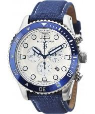 Elliot Brown 929-008-C01 Mens bloxworth orologio cronografo cinturino in tessuto blu