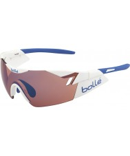 Bolle 6 ° Senso bianco lucido rosa occhiali da sole blu