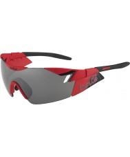 Bolle 6 ° Senso opachi occhiali da sole pistola rosso nero TNS