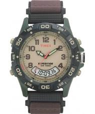 Timex T45181 crema Mens Watch combo marrone spedizione
