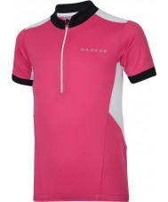 Dare2b Maglietta elettrica rosa del jersey di calcio dei capretti