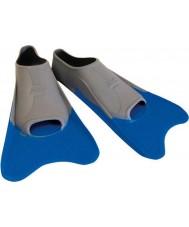 Zoggs 300395 Ultra blu e grigio pinne allenamento - dimensione uk 12