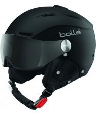 Bolle 31253 Backline visiera morbida nero e argento casco da sci con visiera grigio - 59-61cm
