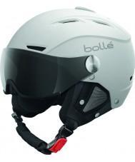 Bolle 31255 Backline visiera morbido bianco e argento casco da sci con visiera grigio - 56-58cm