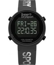 Superdry SYG203E Mens digi contapassi orologio cinturino in silicone grigio