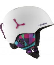 Cebe CBH188 Suspense opaca deluxe grafiche bianche sci casco - 54-56cm