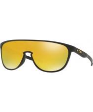 Oakley Oo9318-06 trillbe nero opaco - occhiali da sole Iridium 24k