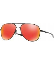 Oakley Oo4119-04 Elmont M e L raso nero - occhiali da sole rubino Iridium