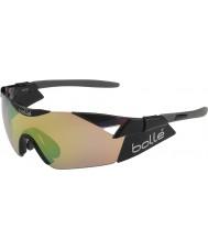 Bolle 6 ° Senso s lucidi modulatore occhiali da sole neri marrone smeraldo