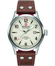 Swiss Military 6-4280-04-002-05 Mens sotto copertura orologio cinturino in pelle marrone