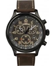 Timex T49905 Mens orologio cronografo nero brown campo spedizione