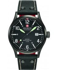 Swiss Military 6-4280-13-007-07 Mens sotto copertura orologio cinturino in pelle nera
