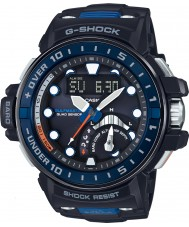 Casio GWN-Q1000-1AER Radio Mens g-shock controllato orologio cinturino in resina nera