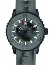 Swiss Military 6-4281-27-007-30 Mens Watch cinturino in silicone grigio crepuscolo