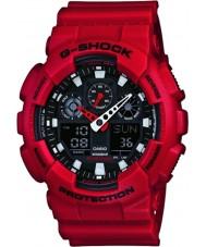 Casio GA-100B-4AER Mens g-shock tempo del mondo orologio cinturino in resina rossa