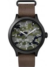 Timex TW4B06600 Mens esploratore orologio cinturino in pelle marrone