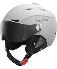 Bolle 21267 Backline visiera morbida casco da sci bianco con argento visiera pistola - 54-56cm