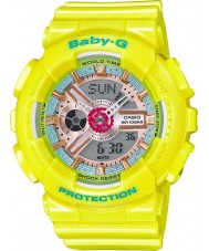 Casio BA-110CA-9AER Signore Baby-G tempo del mondo orologio cinturino in resina gialla