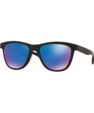 Oakley Oo9320-11 moonlighter nero opaco - zaffiro Iridium occhiali da sole polarizzati