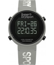 Superdry SYL203E Donne contapassi digi orologio cinturino in silicone grigio