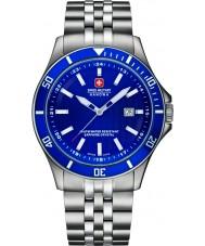 Swiss Military 6-5161-2-04-003 orologio da polso in acciaio d'argento degli uomini di punta