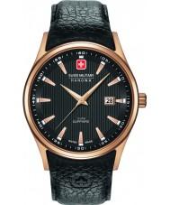 Swiss Military 6-4286-09-007 Mens Navalus orologio cinturino in pelle nera