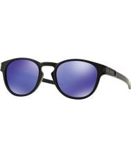 Oakley Oo9265-06 opaco nero di blocco - occhiali da sole viola Iridium