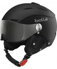 Bolle 31156 Backline visiera morbida sci casco nero e argento con la pistola d'argento e visiera limone - 59-61cm