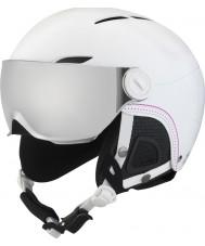 Bolle 31159 Juliet Visiera morbida casco da sci bianco con la pistola d'argento e visiera limone - 52-54cm