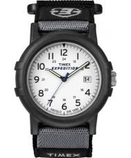 Timex T49713 Mens Watch spedizione bianco camper nero