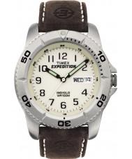 Timex T46681 Mens Watch tradizionale bianco marrone spedizione