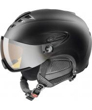 Uvex 5661622205 HLMT 300 casco da sci nero con visiera lasergold - 55-58cm