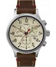 Timex TW4B04300 orologio cronografo in pelle marrone Mens spedizione esploratore
