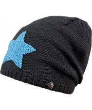 Barts 2050504 Baddy grigio scuro con il blu Beanie stella - 8 anni
