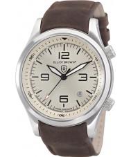 Elliot Brown 202-003-L08 orologio cinturino in pelle marrone Mens Canford cioccolato