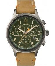 Timex TW4B04400 Mens spedizione esploratore cronografo pelle marrone chiaro
