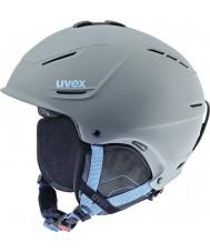 Uvex 5661535407 P1us grigio casco blu di sci - 59-62cm